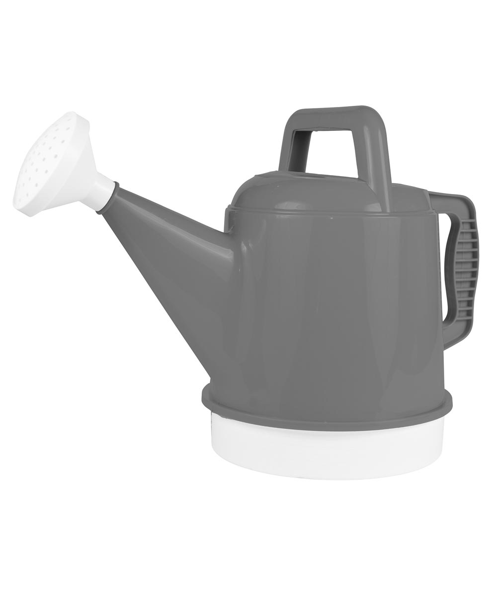 Bloem 2.5 Gallon Deluxe Watering Can, Charcoal