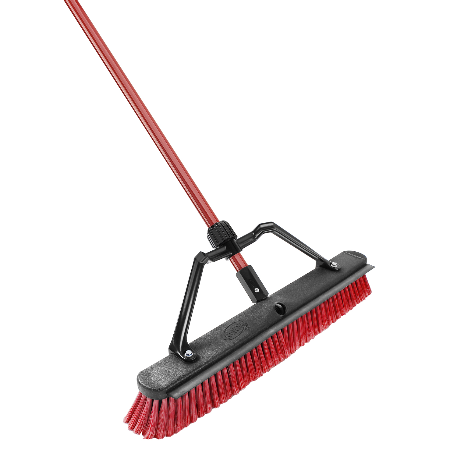 Libman 24 in. Push Broom With Squeegee, Red & Black