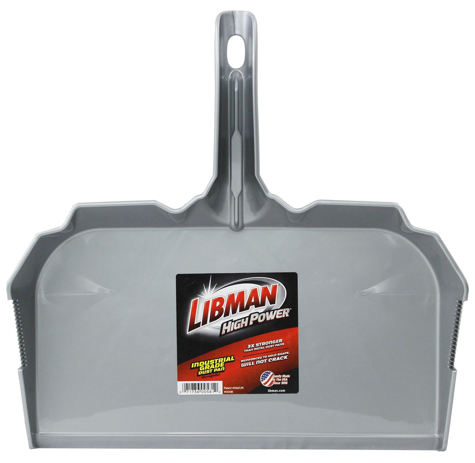 Libman 17 in. Industrial Dust Pan, Gray