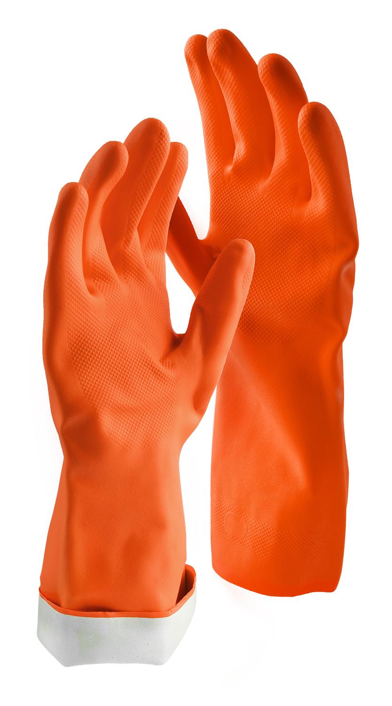 Libman Large Premium Latex Gloves, Orange