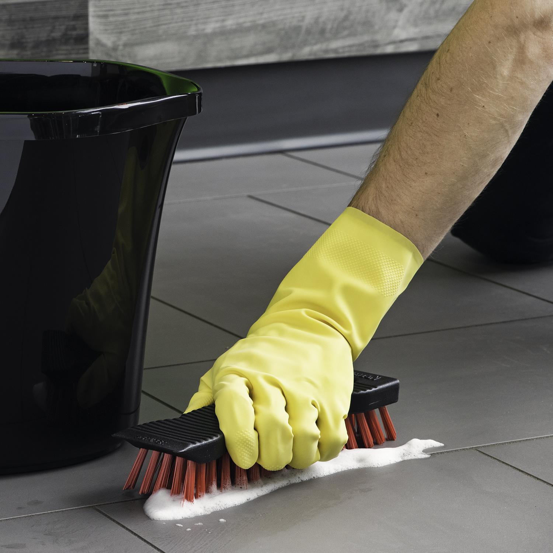 Libman Medium All-Purpose Latex Gloves, 2 Pairs, Yellow