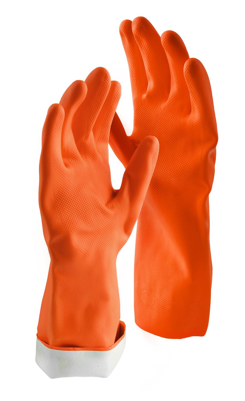 Libman Small Premium Latex Gloves, Orange