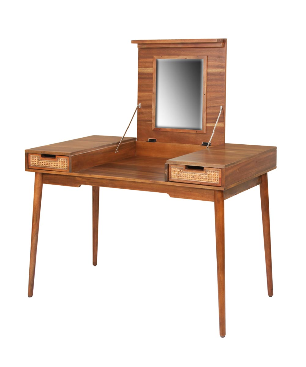 Havana Vanity Desk With Mirror City Mill