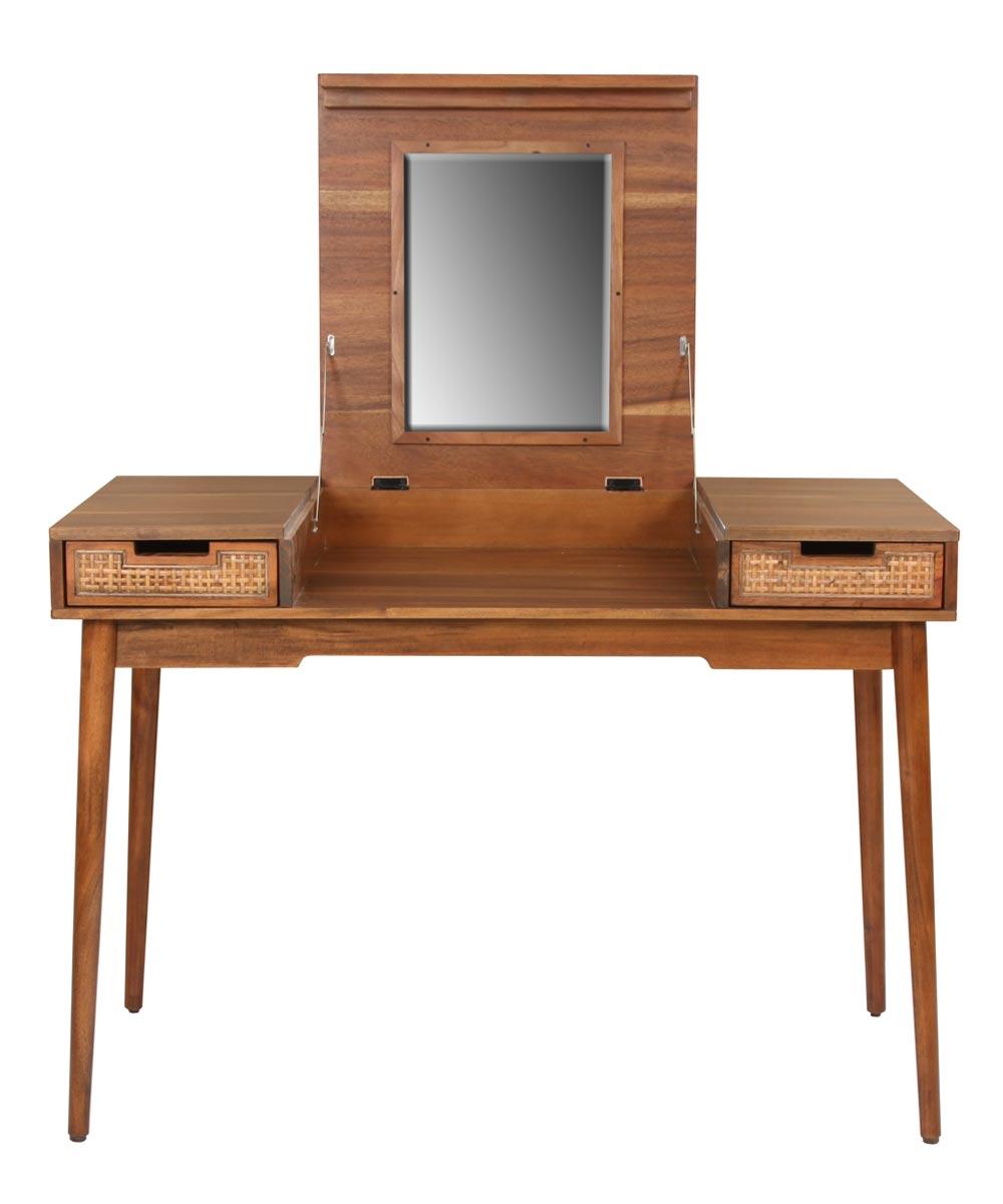 Havana 40 in. Wide Vanity Desk with Mirror