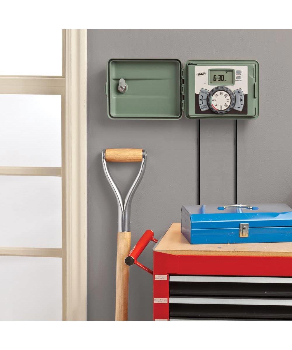 Orbit EasySet 6-Station Sprinkler Timer with Swing Door Cover