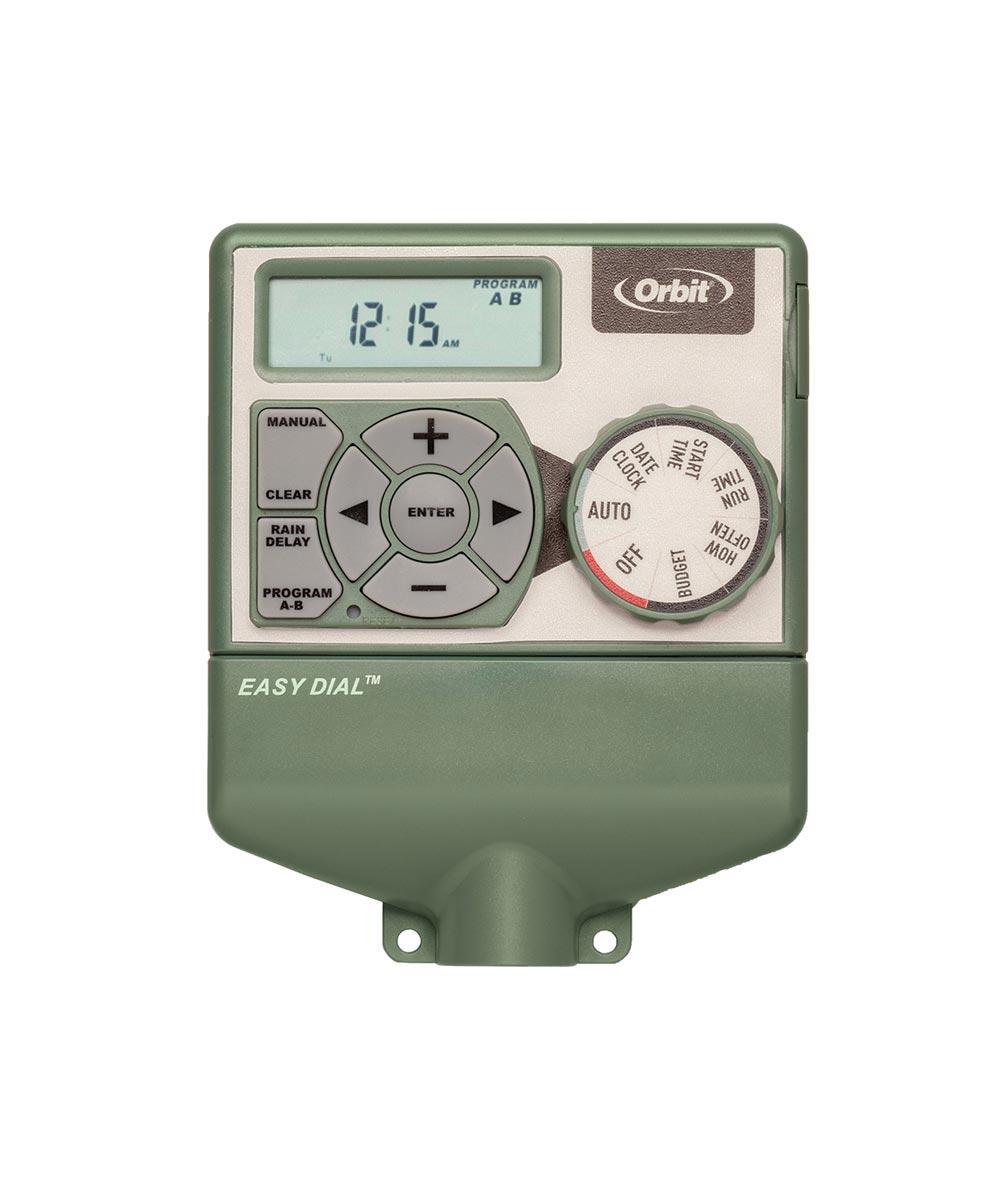 4-Station Indoor Easy Dial Sprinkler System Timer