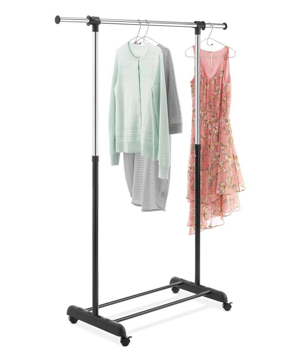 Whitmor Black & Chrome Extendable Garment Rack