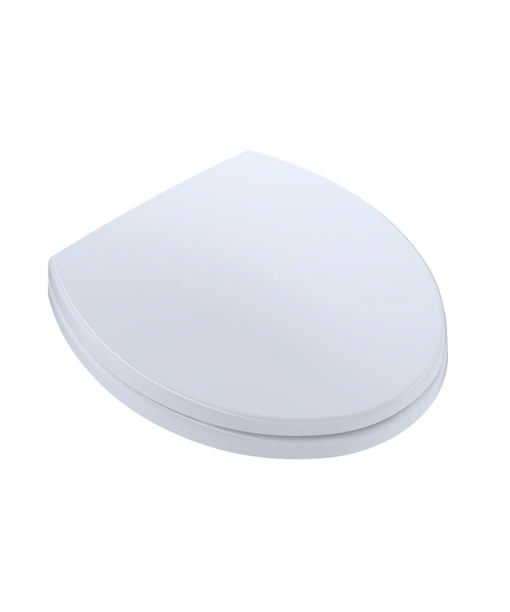 TOTO SoftClose Round Plastic Toilet Seat, Cotton White