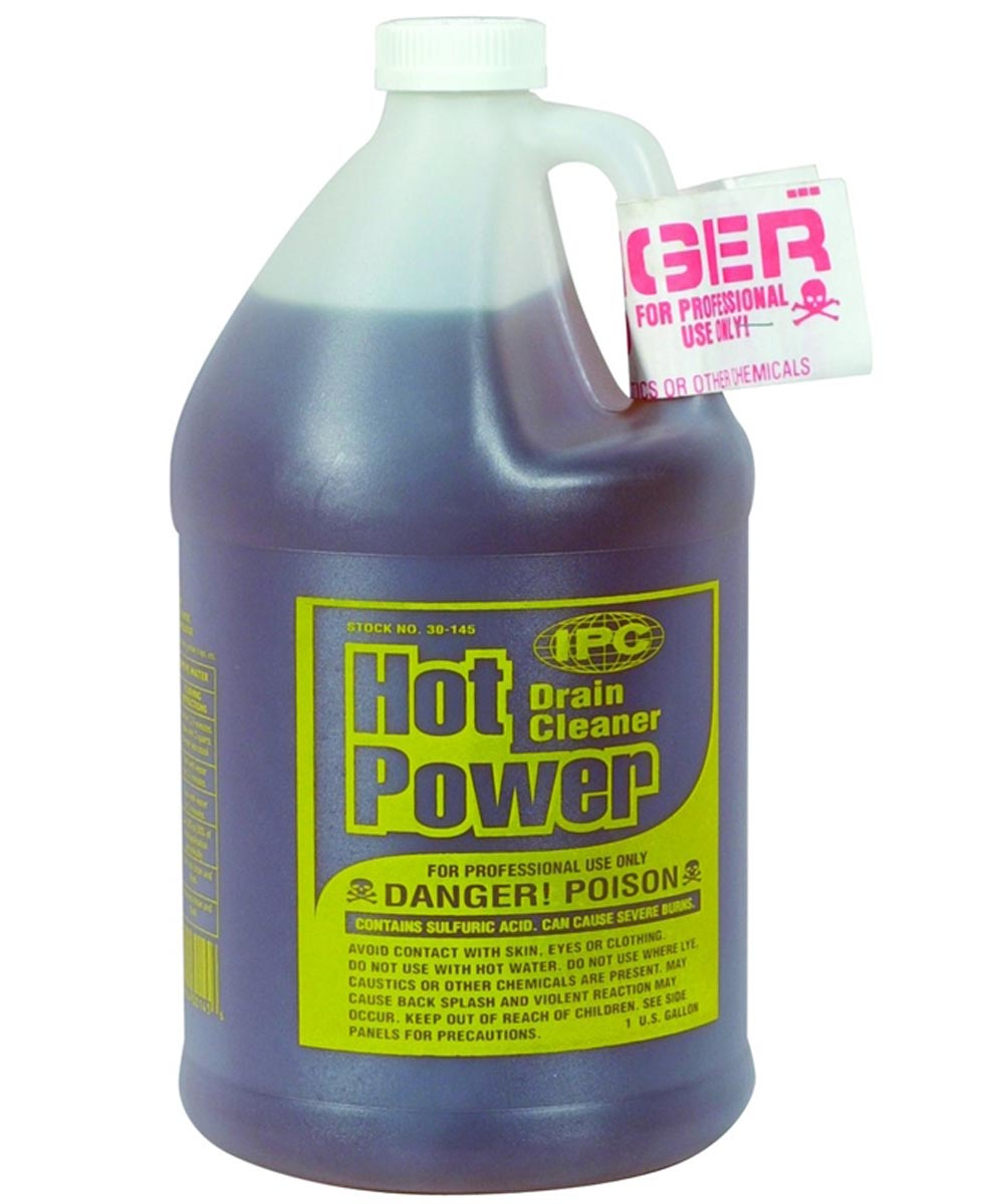 Hot Power Professional Use Sulfuric Acid Drain Cleaner, 1 Gallon