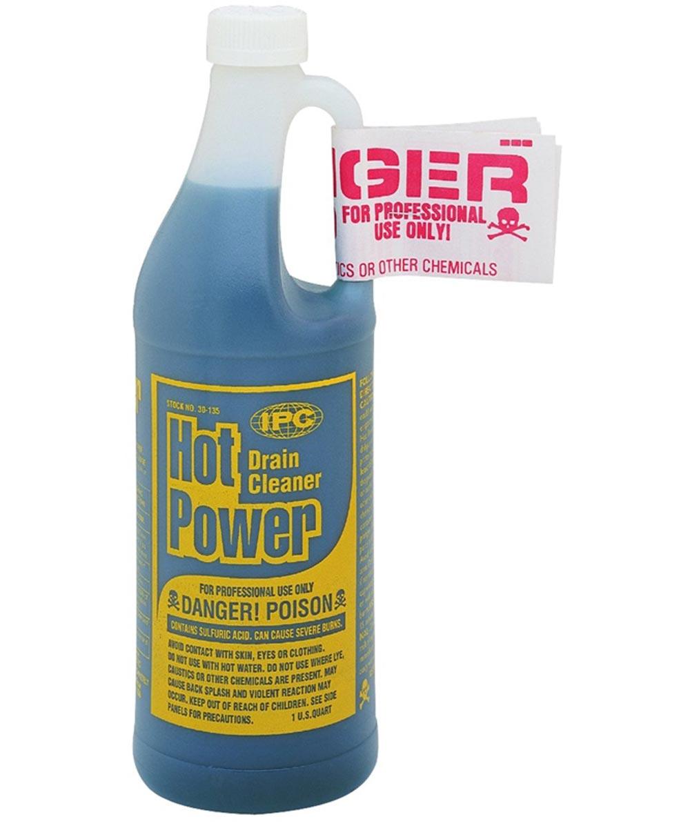 Hot Power Professional Use Sulfuric Acid Drain Cleaner, 1 Quart