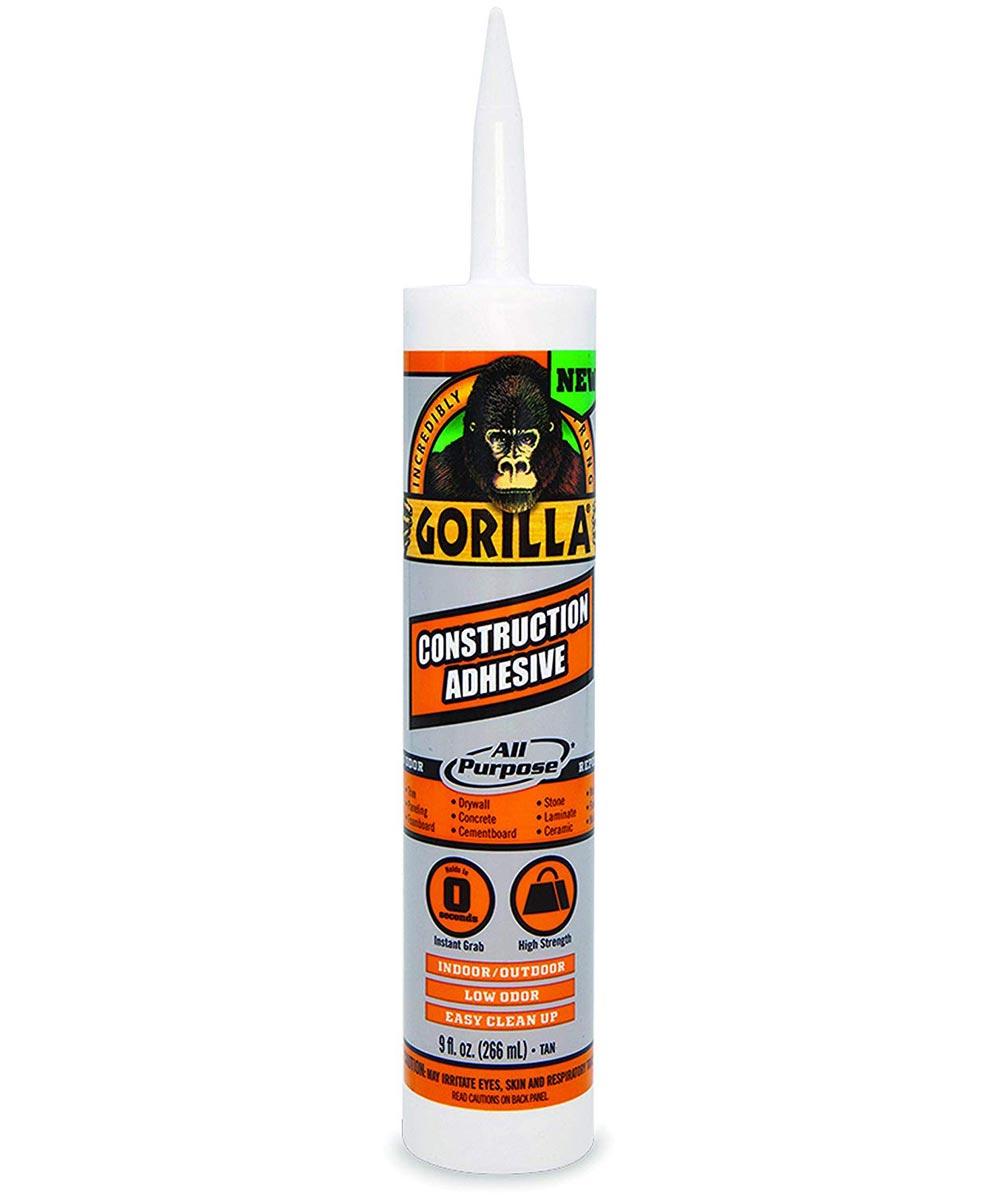 Gorilla All Purpose Construction Adhesive, 9 oz. Cartridge