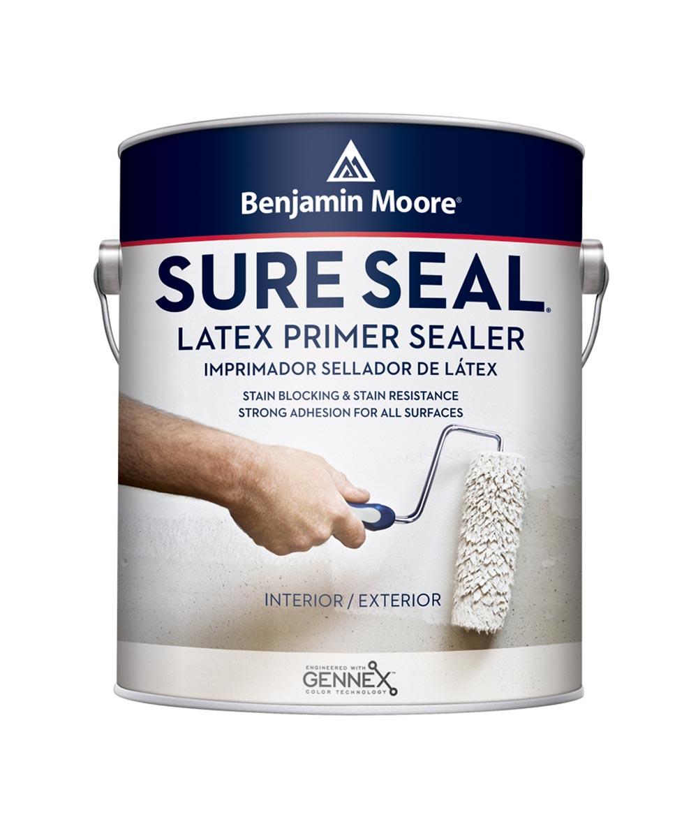 Benjamin Moore Sure Seal Latex Primer Sealer, White, 1 Gallon