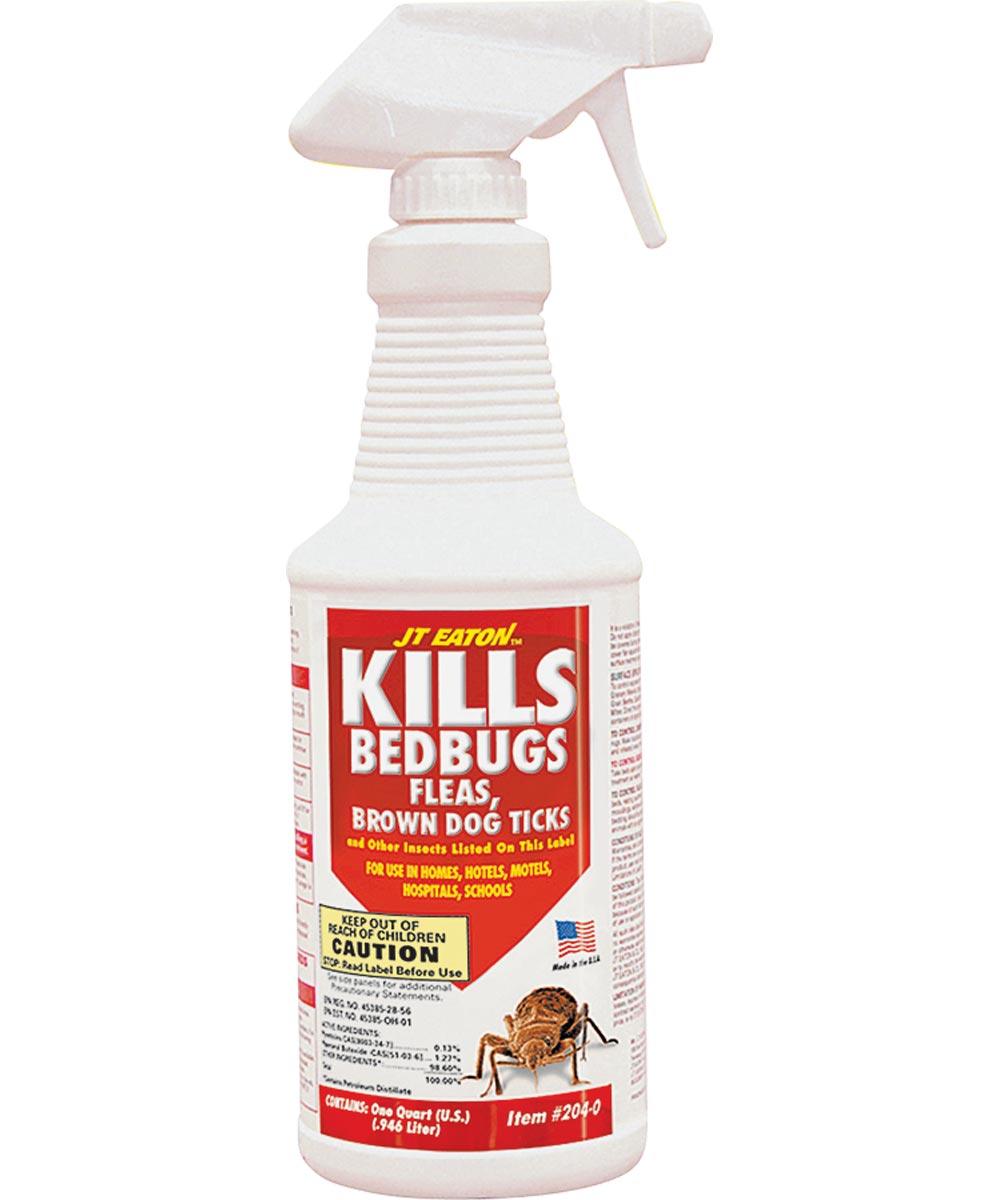Oil Based Bed Bug Killer, 1 qt Bottle, Light Yellow, Liquid