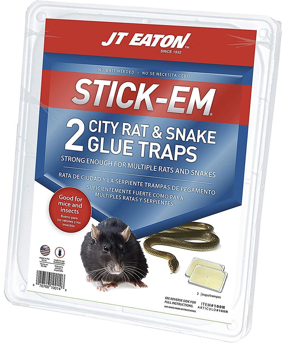 STICK-EM City Rat & Snake Glue Trap, 2 Pack