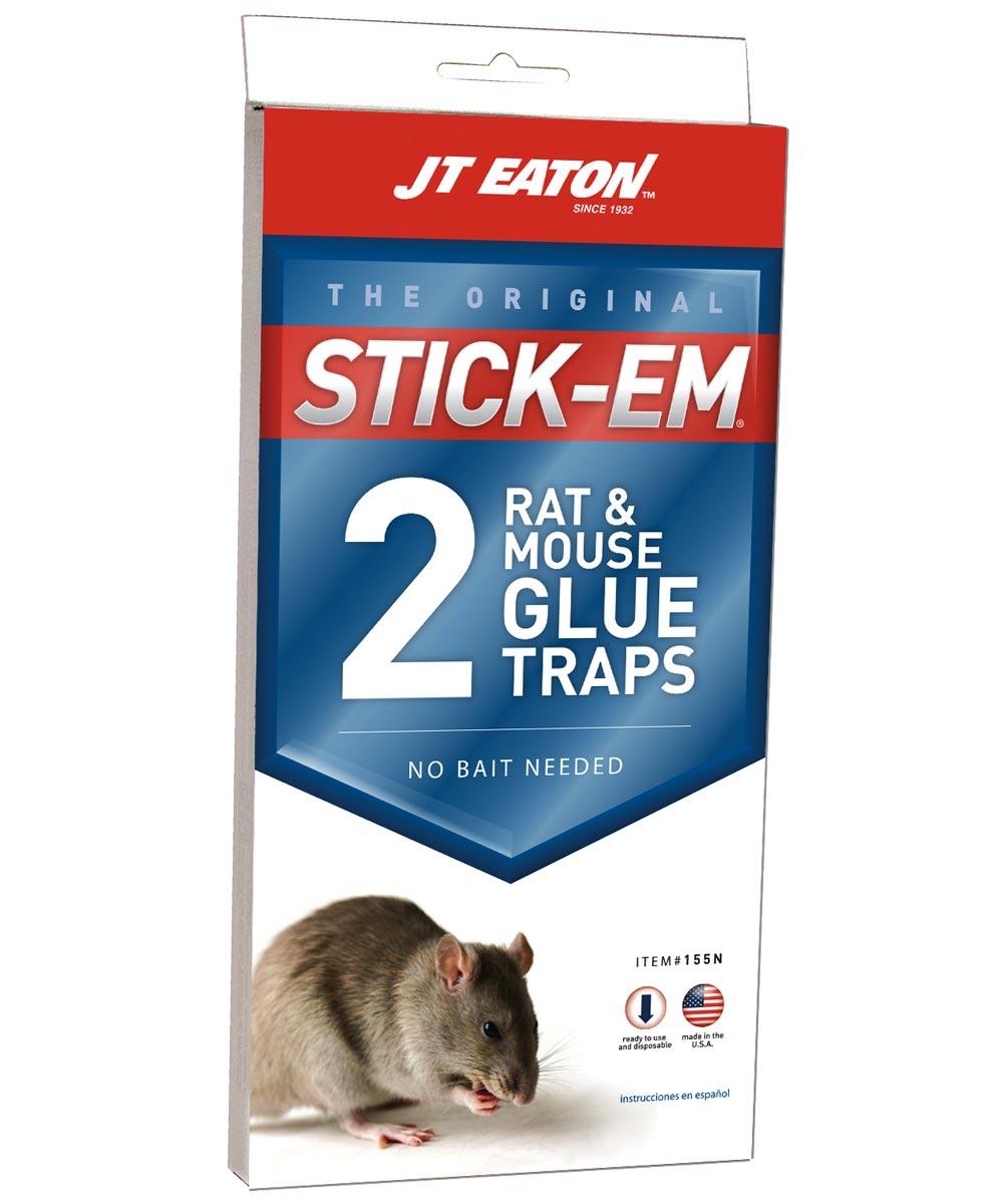 Stick-Em Ready-To-Use Glue Trap, 10 in. (H) x 5 in. (W), Plastic