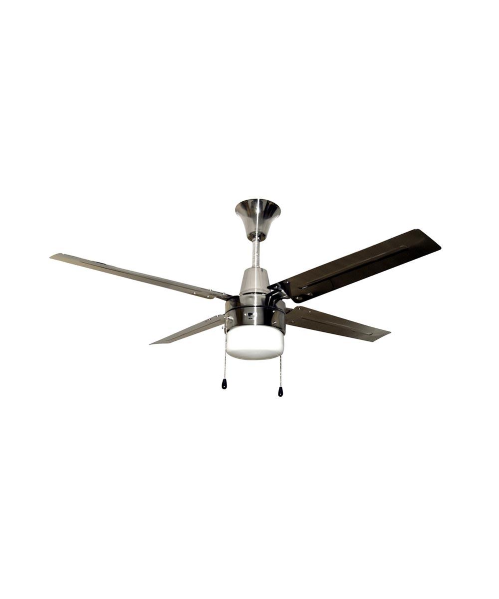 Litex 48 in. Urbana 4 Blade Ceiling Fan with Single LED Light Kit, Brushed Chrome