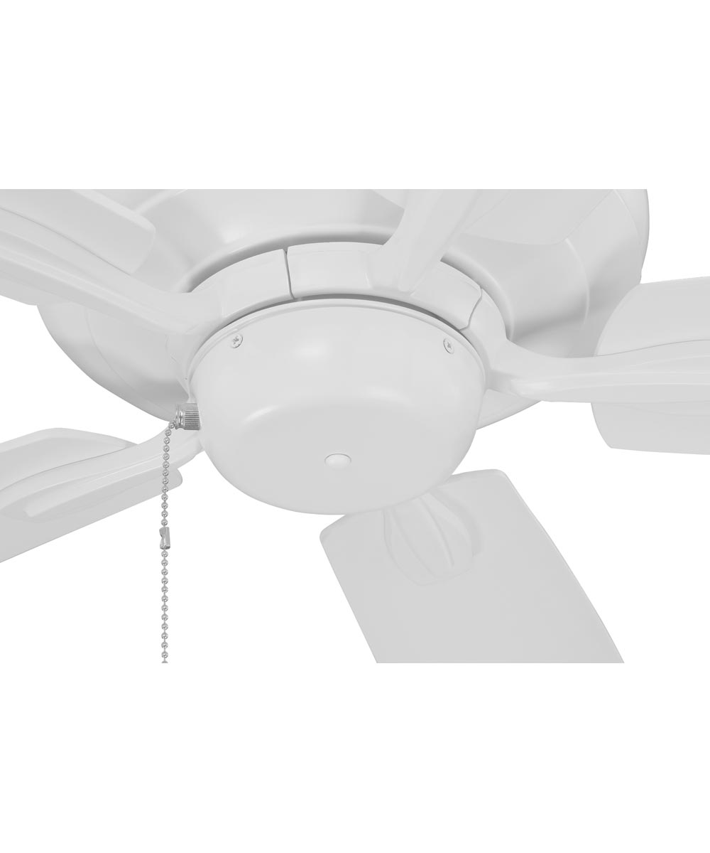Craftmade 52 in. Fortitude 5 Blade Dual Mount Ceiling Fan, White