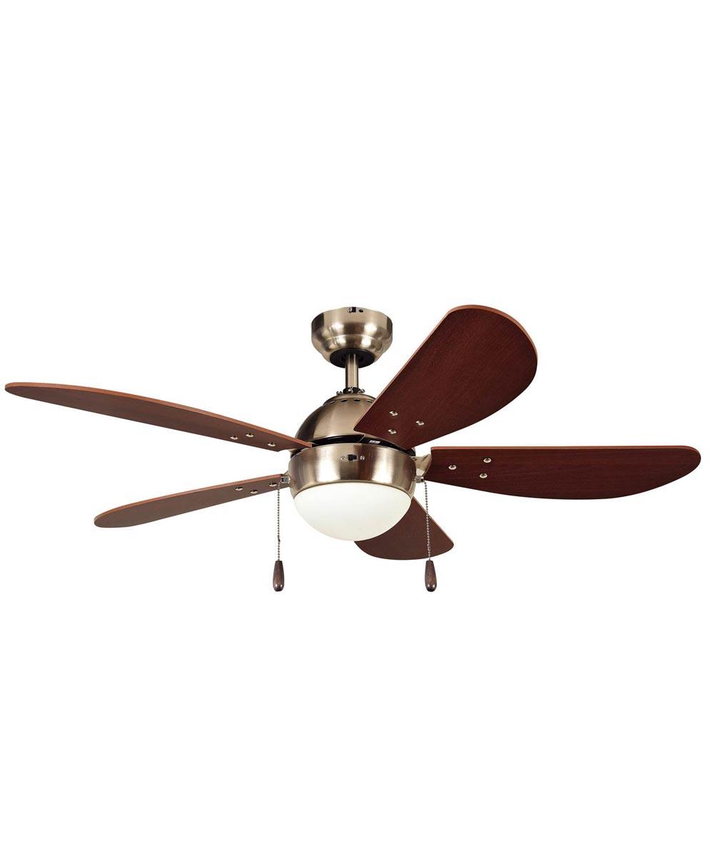 Litex 42 in. Prescott 5 Blade Ceiling Fan with Single LED Light Kit, Satin Nickel