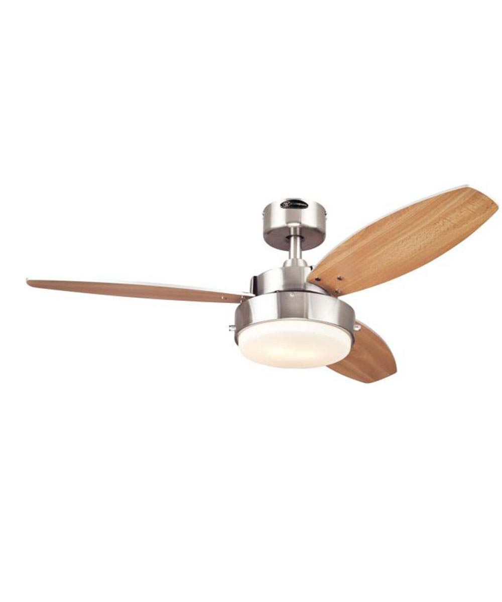 Westinghouse 42 in. Alloy 3 blade Ceiling Fan with LED Light, Brushed Nickel