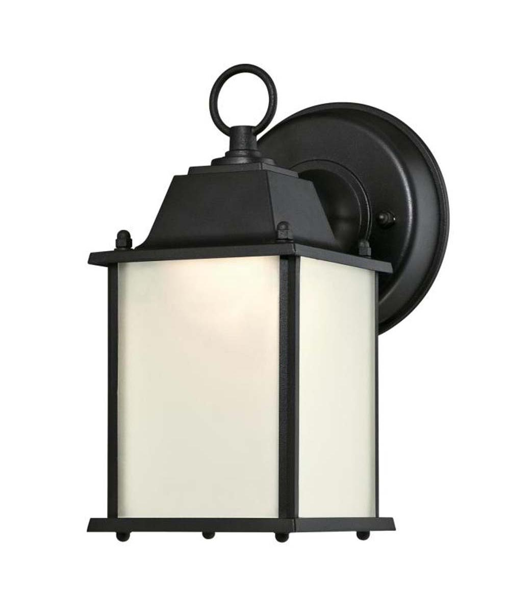 Westinghouse 1-Light LED Outdoor Wall Fixture with Frosted Glass, Textured Black (ENERGY STAR)
