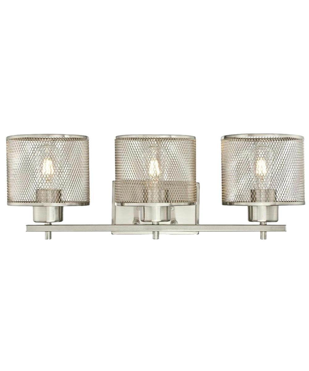 Westinghouse Morrison 3-Light Indoor Wall Fixture with Mesh Shades, Brushed Nickel