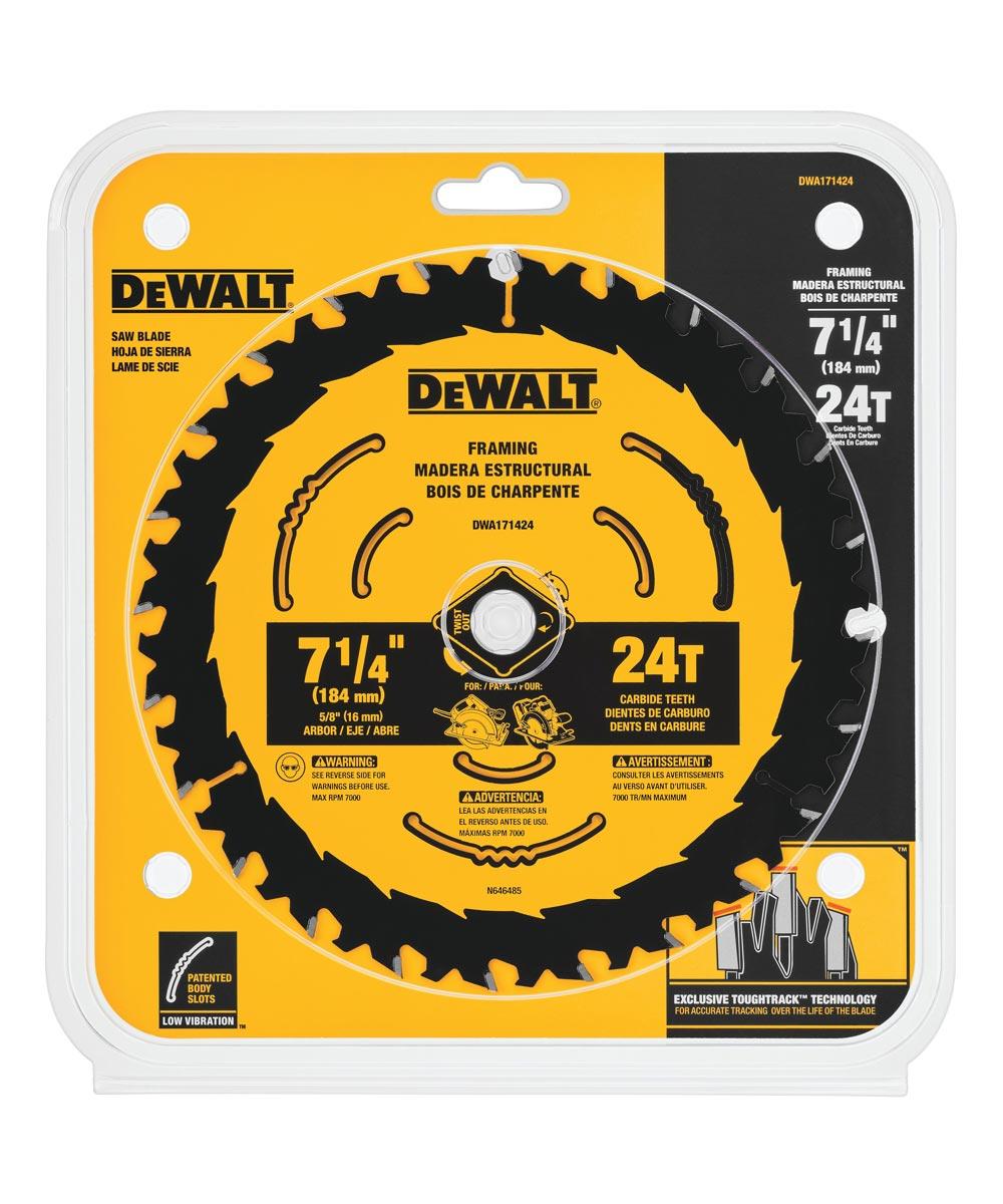DEWALT 7-1/4 in. 24T ToughTrack Circular Saw Blade
