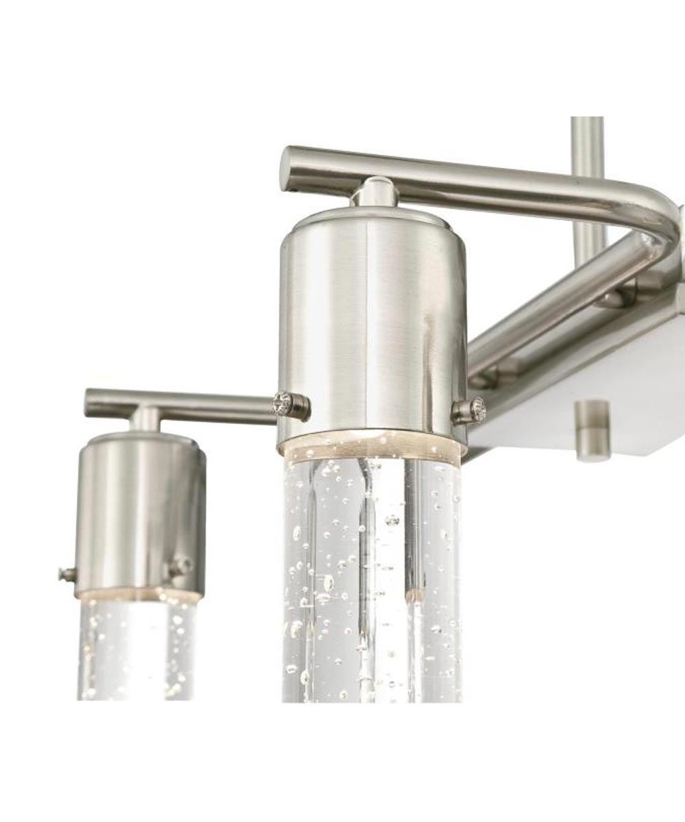 Westinghouse Cava 6-Light Dimmable LED Indoor Chandelier with Bubble Glass, Brushed Nickel