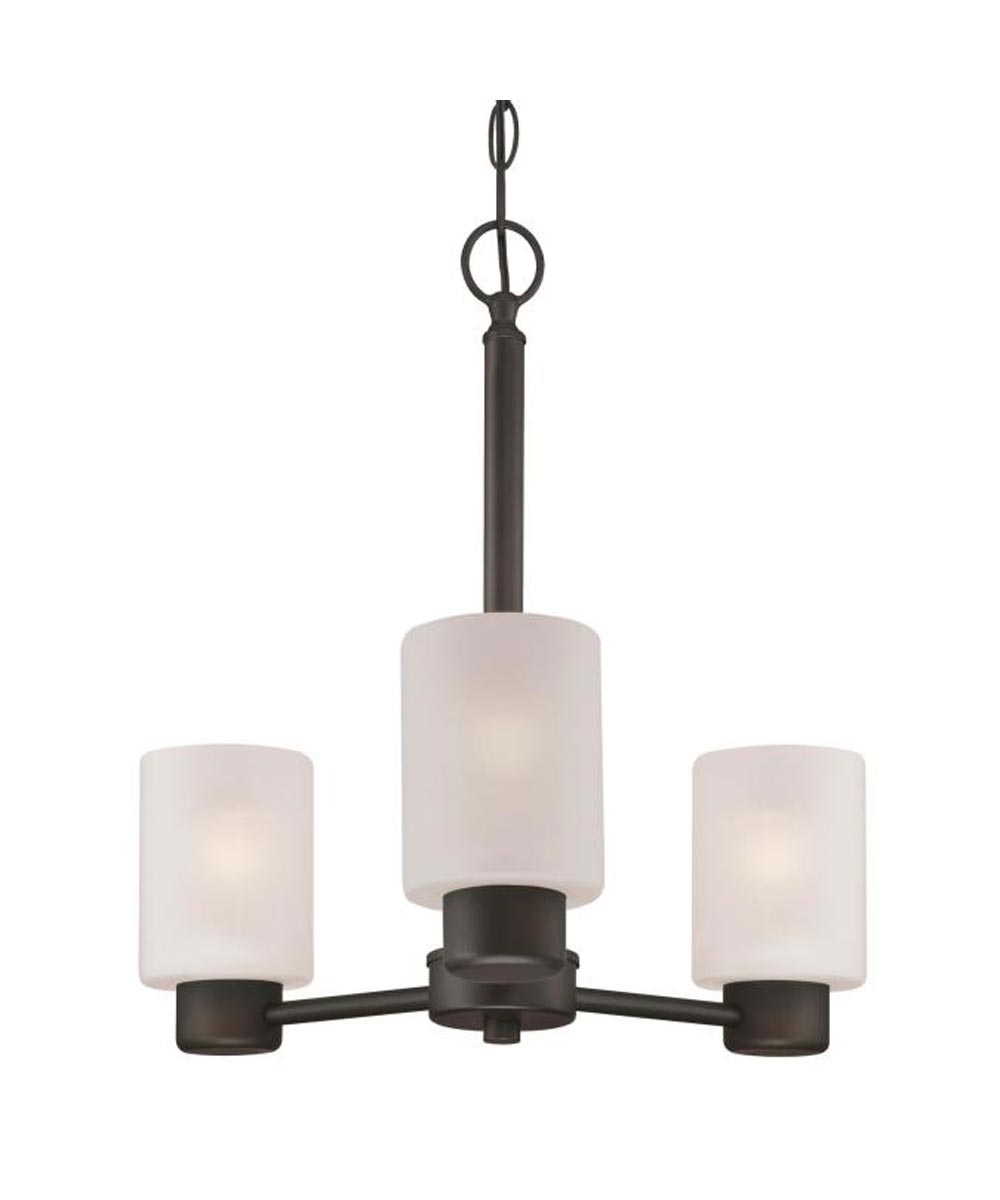 Westinghouse Sylvestre 3-Light Indoor Chandelier with Frosted Glass, Oil Rubbed Bronze
