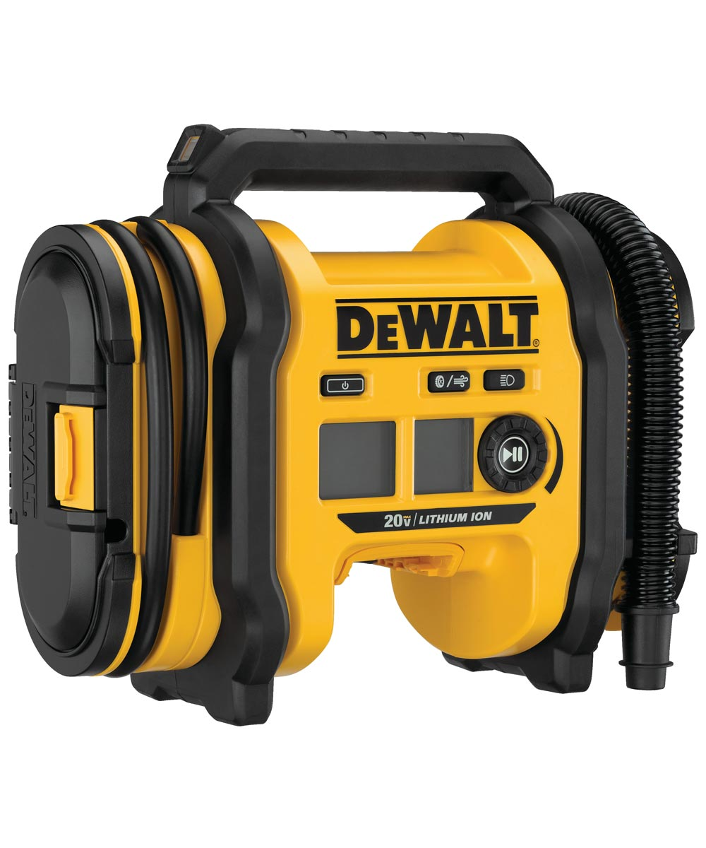 DEWALT 20V MAX* Corded / Cordless Air Inflator, Tool Only (No Battery or Charger)