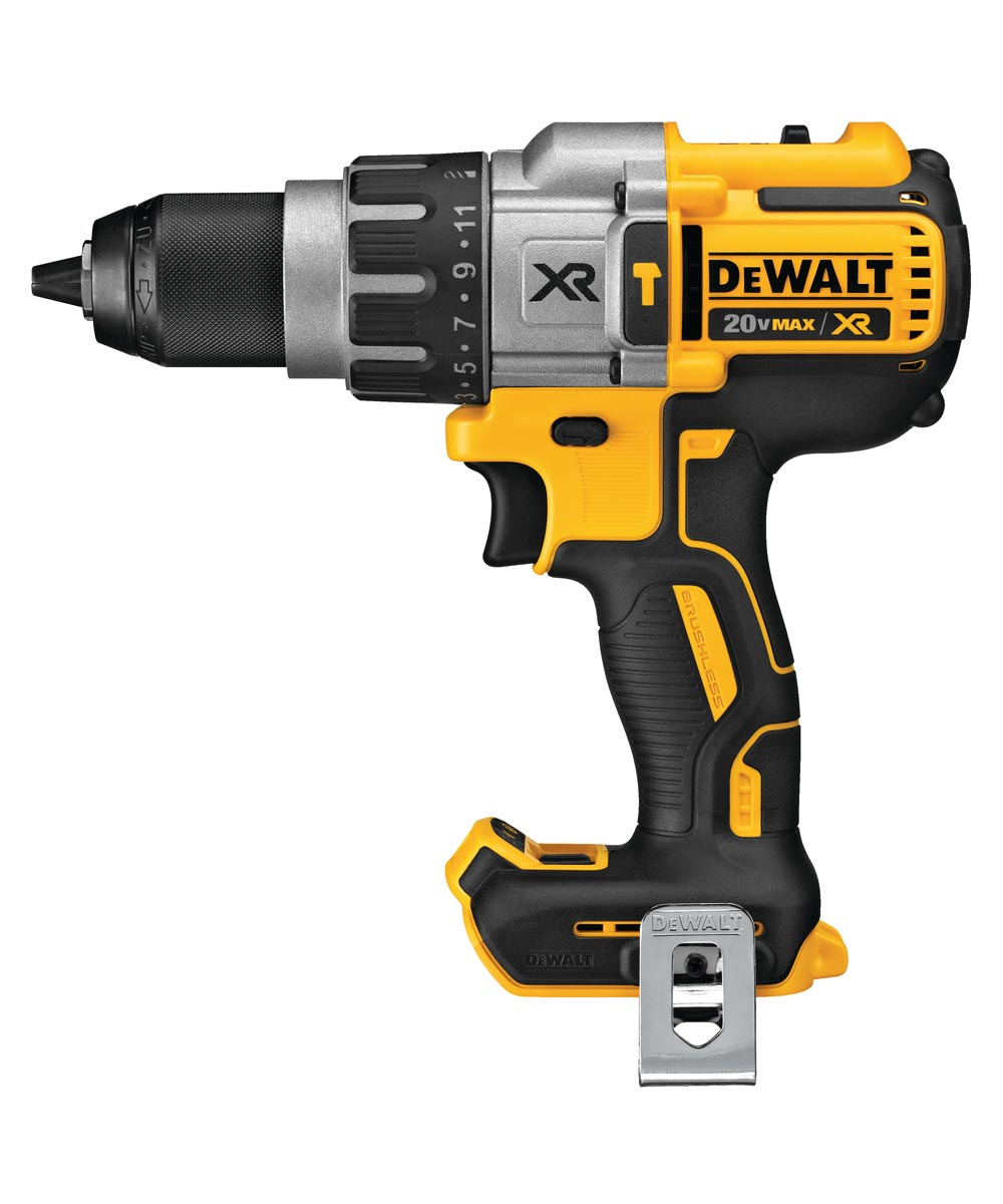 DEWALT 20V MAX* XR Brushless Cordless 3-Speed Hammer Drill/Driver, Tool Only (No Battery or Charger)