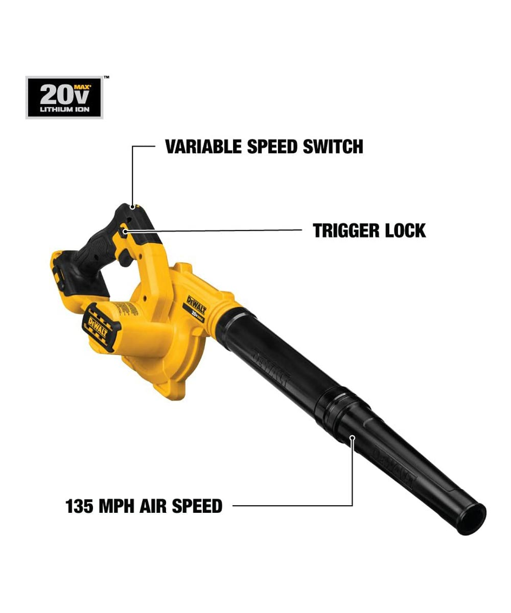 DEWALT 20V MAX* Cordless Compact Jobsite Blower, Tool Only (No Battery or Charger)