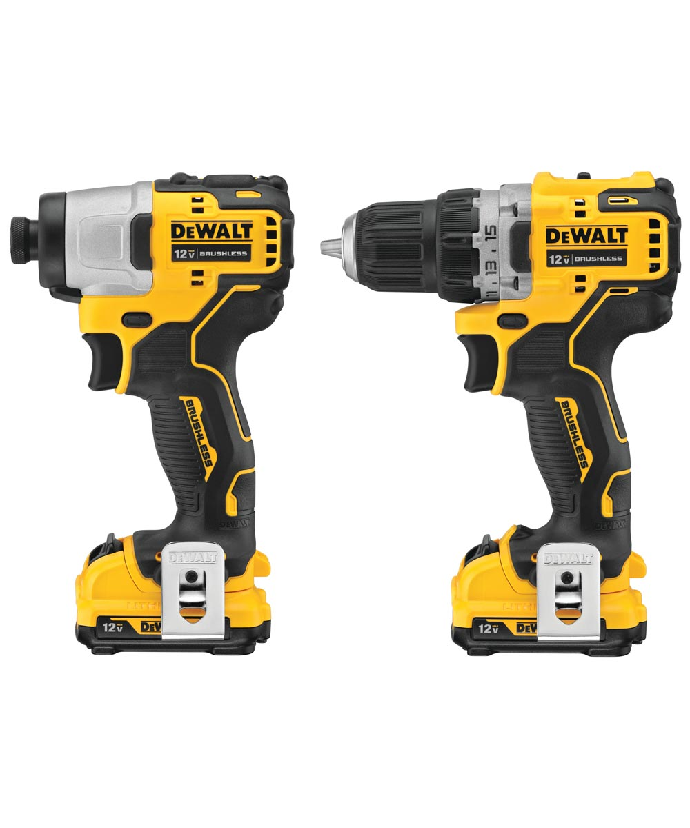 DEWALT XTREME 12V MAX* Brushless Cordless Drill & Impact Driver Kit with Charger & 2 Batteries