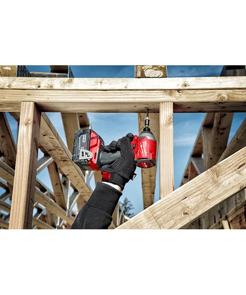 Milwaukee M18 FUEL 1/4 in. Brushless Cordless Hex Impact Driver Kit with Charger & 2 Batteries