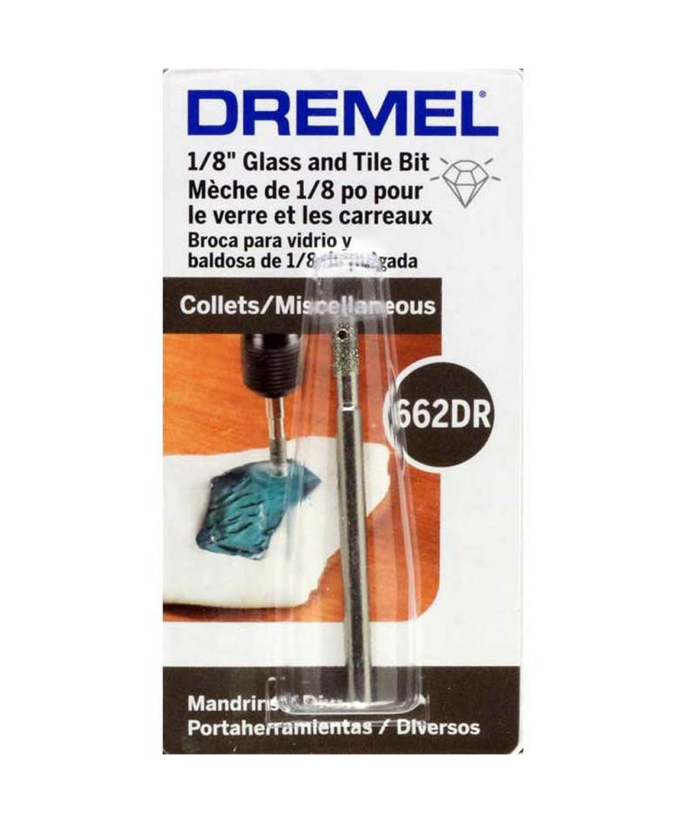 Dremel 662DR Rotary 1/8 in. Glass & Tile Drilling Bit for Glass, Ceramic, Wall Tile, Jewelry