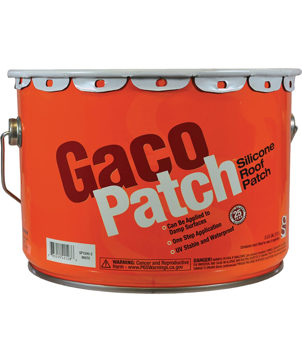 GacoPatch 2 Gallon White Silicone Roof Patch