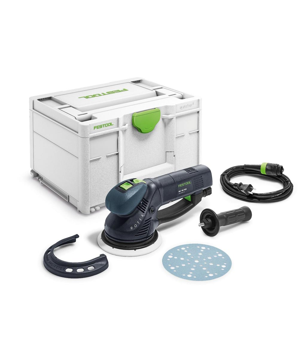 Festool RO 150 6 in. FEQ Rotex Orbit Sander with Systainer Storage Container