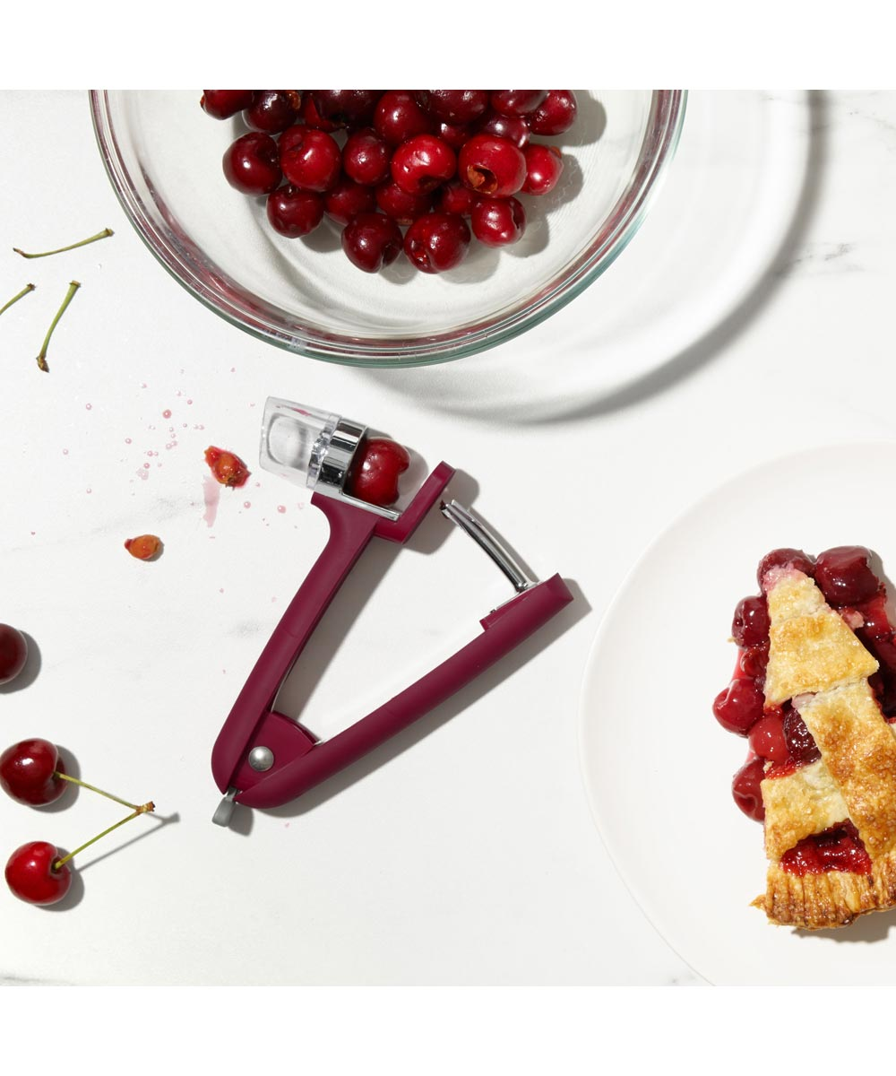 OXO Good Grips Cherry & Olive Pitter, Red