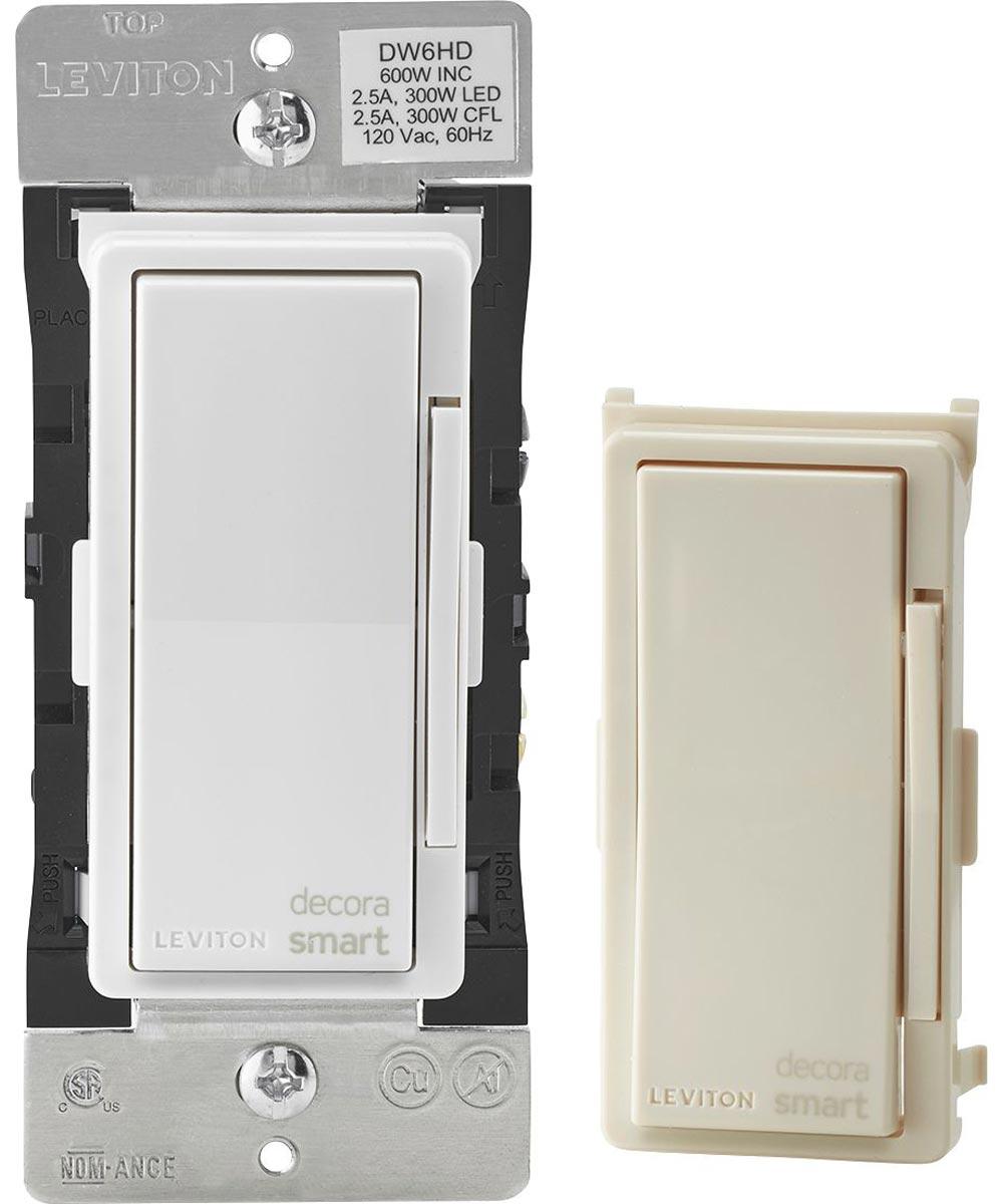 Leviton Decora 600 Watt Smart Wifi Universal LED / Incandescent Light Dimmer with Wallplate