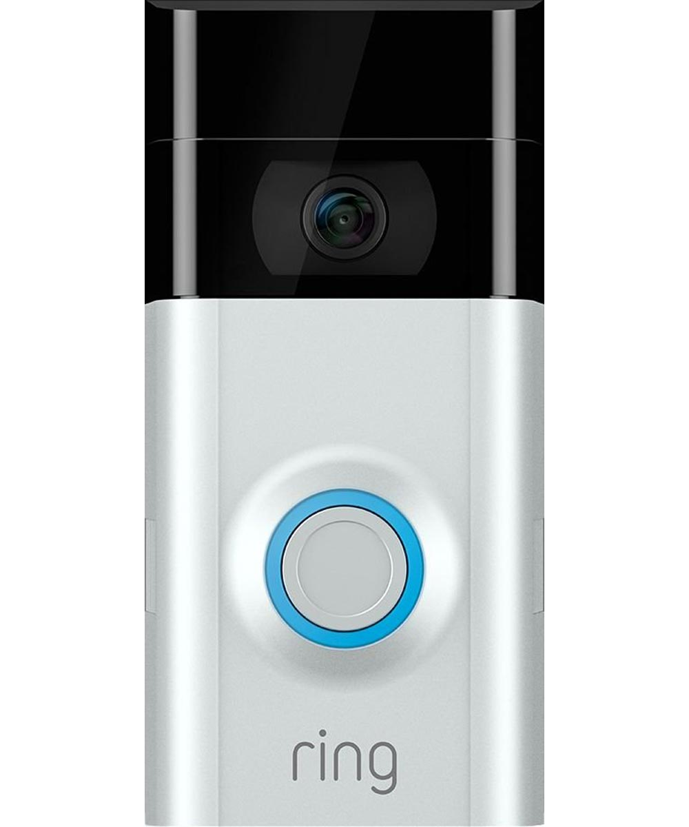 Ring Video Doorbell 2 Security Camera, Satin Nickel