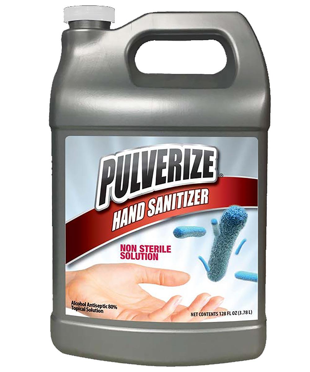 Pulverize 80% Alcohol Liquid Hand Sanitizer, 1 Gallon