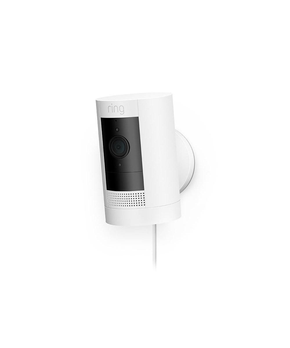 Ring Stick Up Cam Plug-In Indoor/Outdoor Security Camera, White