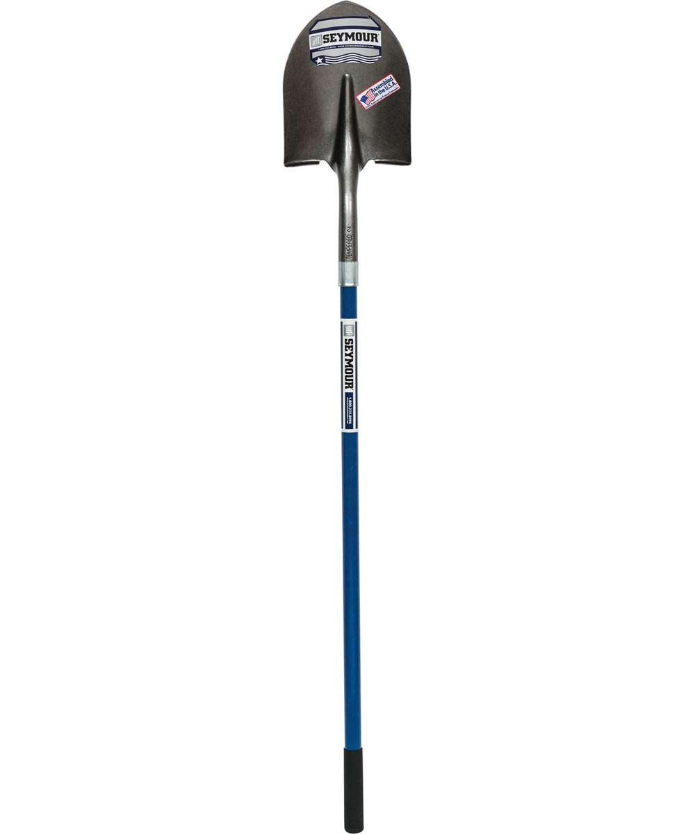 Seymour Midwest 8.4 in. Round Point Shovel with 46 in. Fiberglass Handle