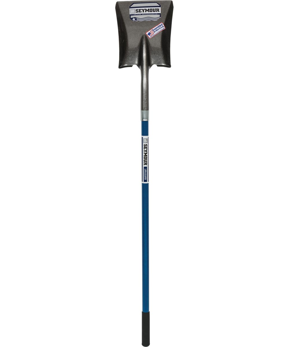 Seymour Midwest 9 in. Square Point Shovel With 46 in. Fiberglass Handle