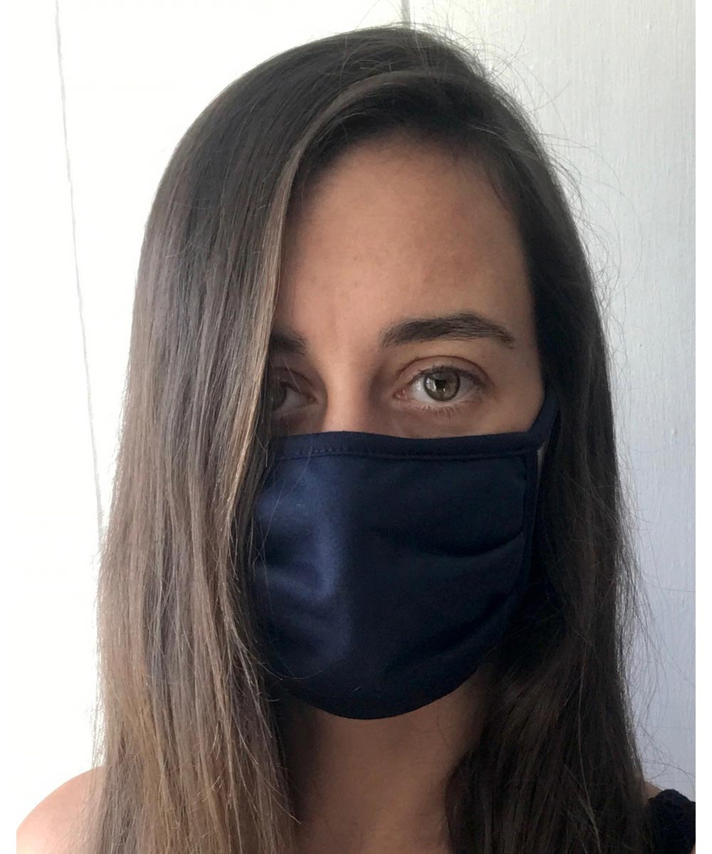Reusable Fabric Face Mask, Lani Lau Navy