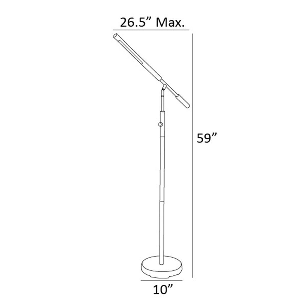 Cayden III LED Floor Lamp, Brushed Nickel