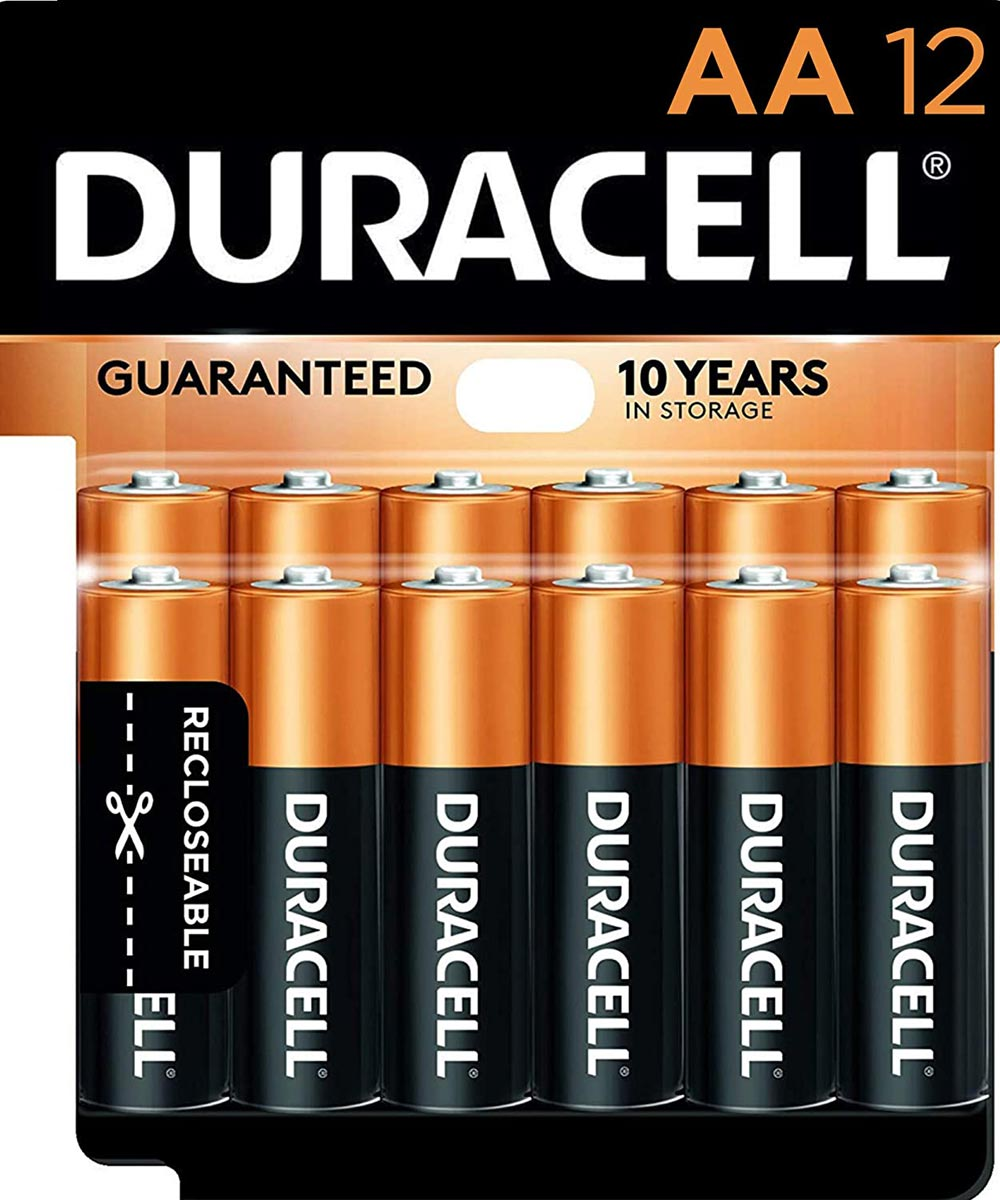 Duracell CopperTop AA Alkaline Battery, 12 Pack