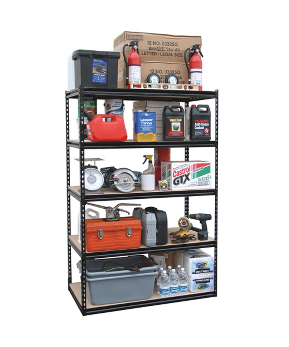 5 Shelf Heavy Duty Steel Storage Rack, 48-5/8 in. x 72-5/16 in. x 24-5/8 in.