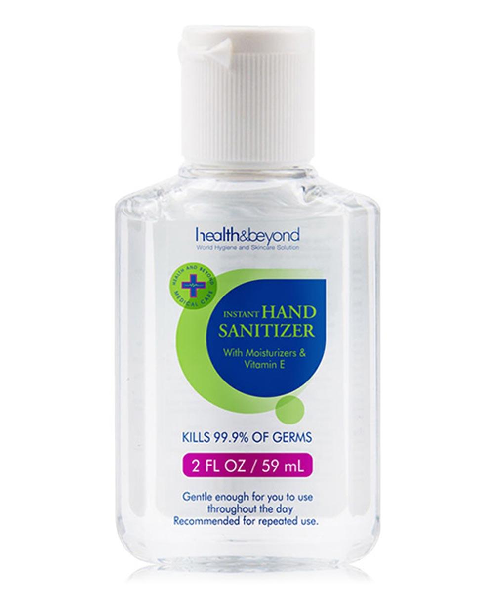 Health & Beyond 62% Ethyl Alcohol Hand Sanitizer Gel with Moisturizers & Vitamin E, 2 oz.