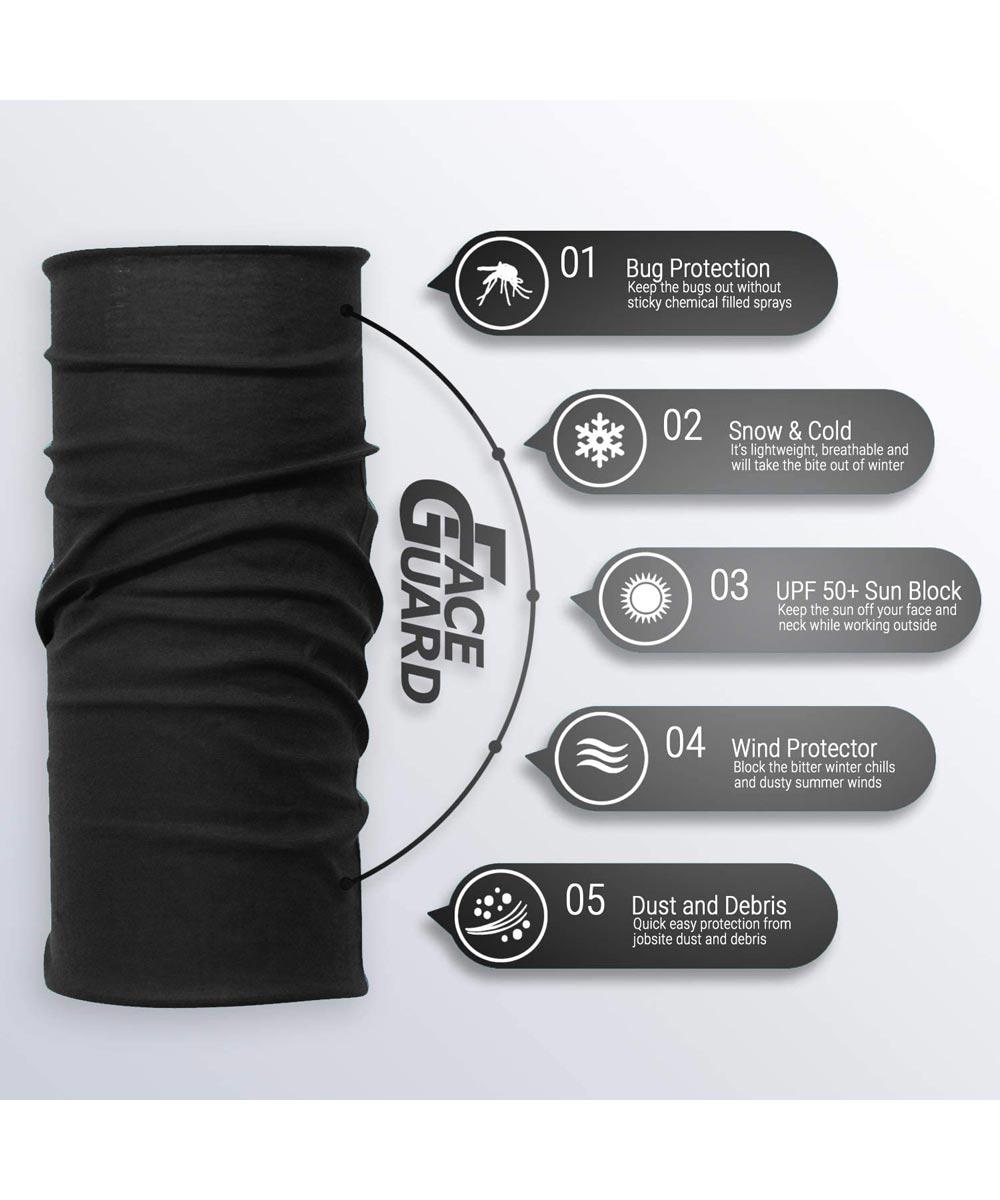 Face Guard Reusable Fabric Face Mask, Black