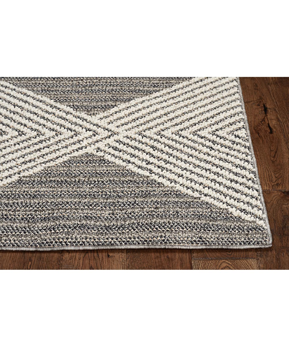 KAS 5 ft. x 7 ft. 6 in. Terrace Grey/Ivory Diamonds Area Rug